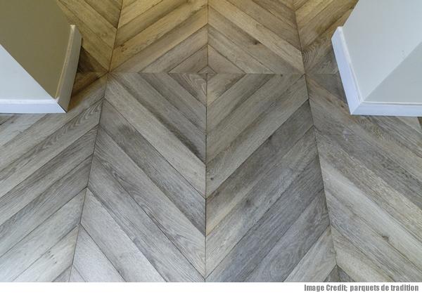 Herringbone and chevron parquet wooden flooring Chevron wood floor